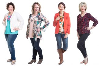 4 women finding the perfect pair of jeans